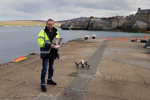 Rory flying the Inspire 1 at Victoria Pier